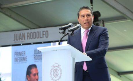 JUAN RODOLFO GÓMEZ SÁNCHEZ RINDIÓ SU PRIMER INFORME DEL BUEN GOBIERNO