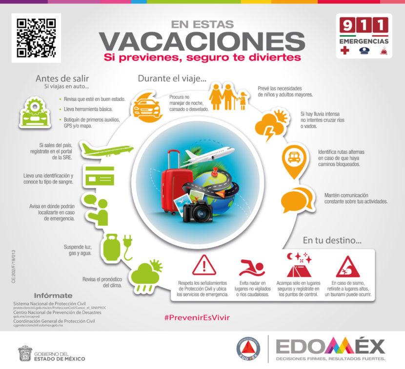EMITE PROTECCIÓN CIVIL DEL EDOMÉX RECOMENDACIONES PARA VACACIONES INVERNALES