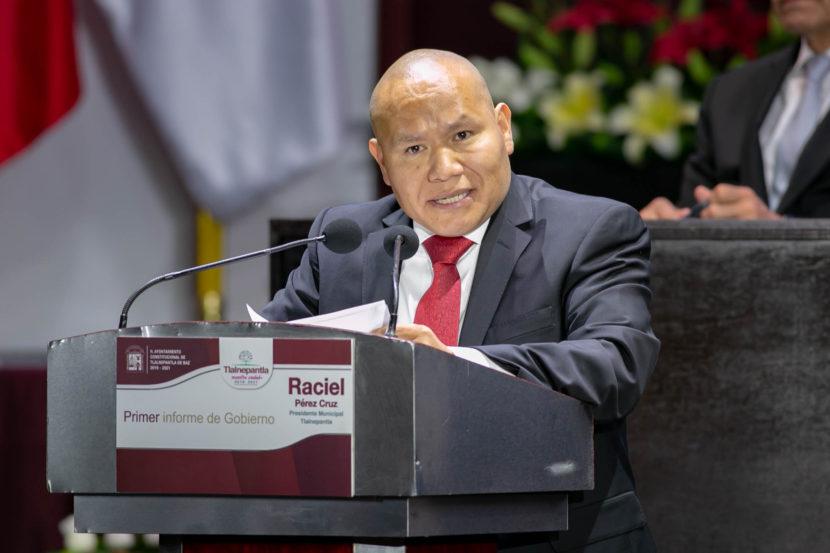 RINDE RACIEL PÉREZ CRUZ SU PRIMER INFORME DE GOBIERNO