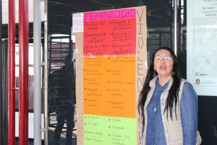 COLOCAN «VIOLENTÓMETROS» EN ESTACIONES DEL MEXIBUS EN ECATEPEC