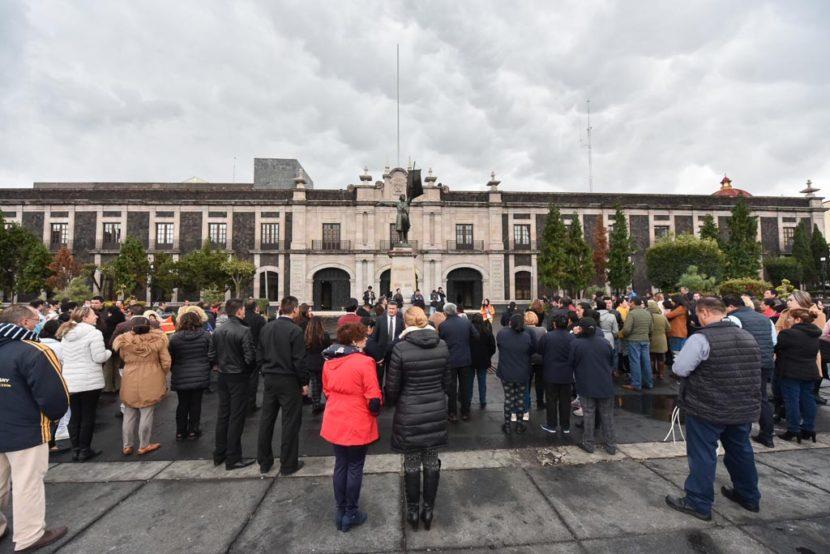 PARTICIPA EL PODER LEGISLATIVO MEXIQUENSE EN MACRO SIMULACRO DE SISMO