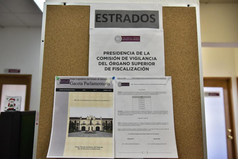 PUBLICAN EN LA GACETA PARLAMENTARIA LISTA DE CANDIDATOS A AUDITOR SUPERIOR