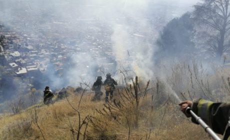 SOFOCAN BOMBEROS DE TOLUCA 34 INCENDIOS DE PASTIZALES