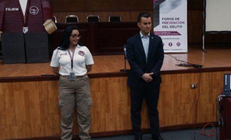 BRINDA FGJEM CONFERENCIA A ESTUDIANTES SOBRE PREVENCIÓN DE ADICCIONES