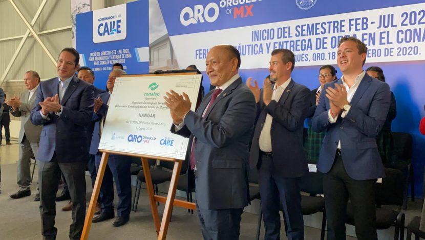 INAUGURA CONALEP HANGAR PARA PRÁCTICAS AERONÁUTICAS EN EL ESTADO DE QUERÉTARO