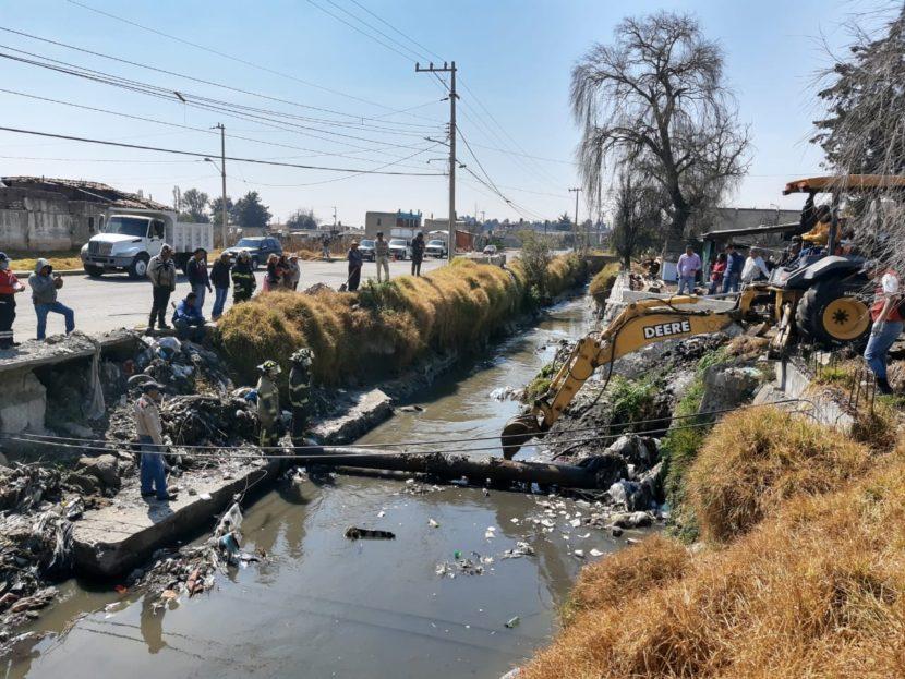 Realiza Toluca trabajos de limpieza y saneamiento en el Río Verdiguel