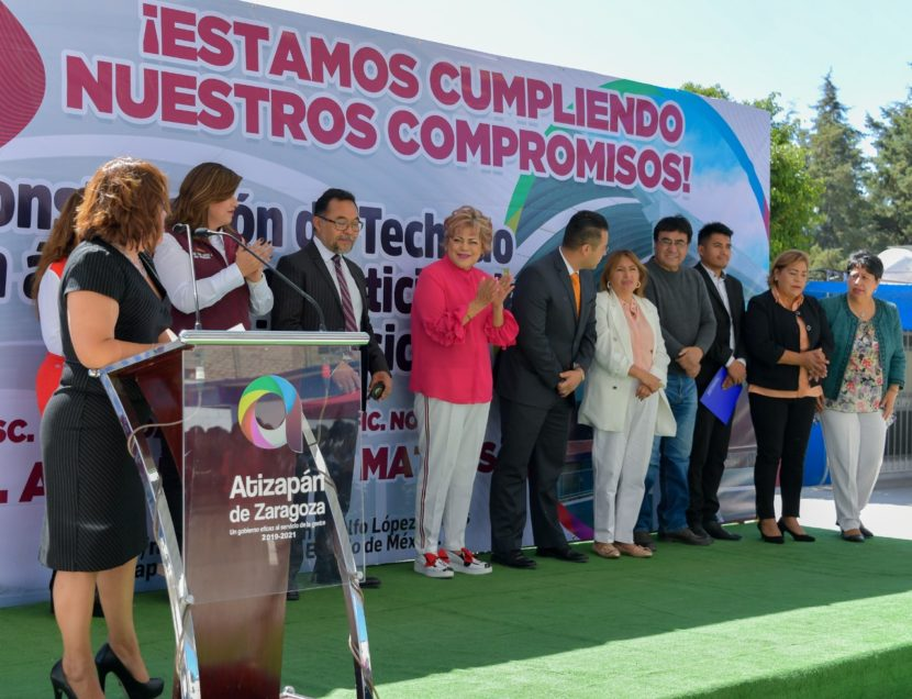INAUGURA GOBIERNO DE ATIZAPÁN ARCOTECHO Y AULAS ESCOLARES, INVERSIÓN PARA EL PRESENTE Y FUTURO