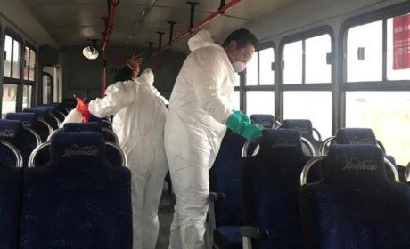IMPLEMENTA SEMOV MEDIDAS SANITARIAS PARA EL TRANSPORTE PÚBLICO