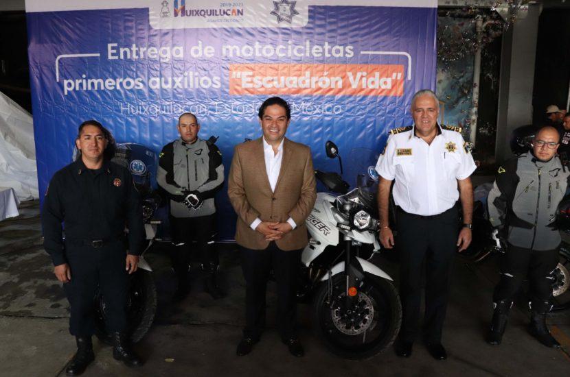 """INCREMENTA HUIXQUILUCAN NÚMERO DE MOTOCICLETAS DEL """"ESCUADRÓN VIDA"""""""