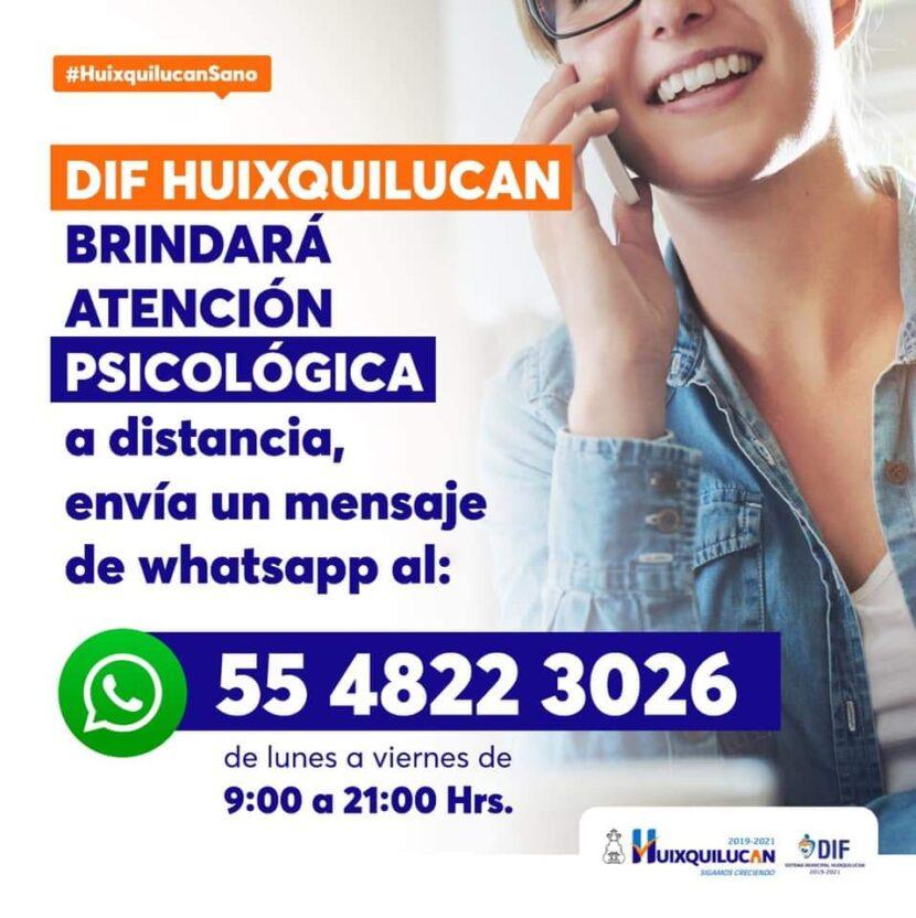 VÍA TELEFÓNICA EN HUIXQUILUCAN SE BRINDA APOYO PSICOLÓGICO