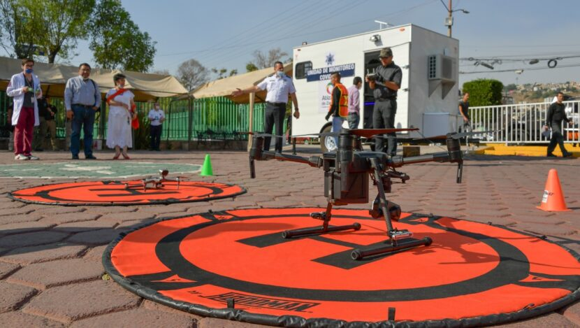 ATIZAPÁN UTILIZA DRONES PARA INFORMAR SOBRE MEDIDAS PREVENTIVAS CONTRA COVID19