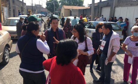 VIOLENTA SECRETARIA DE BIENESTAR ENTREGA DE APOYOS EN METEPEC