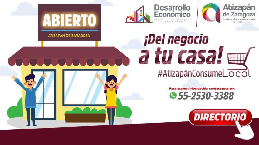 """LANZA ATIZAPÁN CAMPAÑA """"DEL NEGOCIO A TU CASA"""" EN APOYO A LA ECONOMÍA LOCAL"""