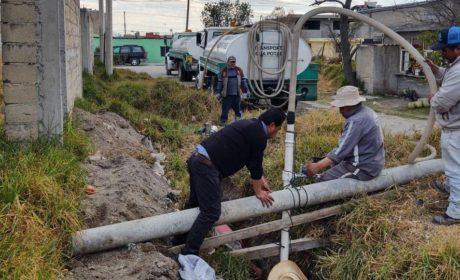 REPARAN FUGA DE AGUA EN TOTOLTEPEC DE TOLUCA