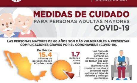 NECESARIO EXTREMAR CUIDADOS PARA GRUPOS VULNERABLES ANTE EL CORONAVIRUS: IMAS