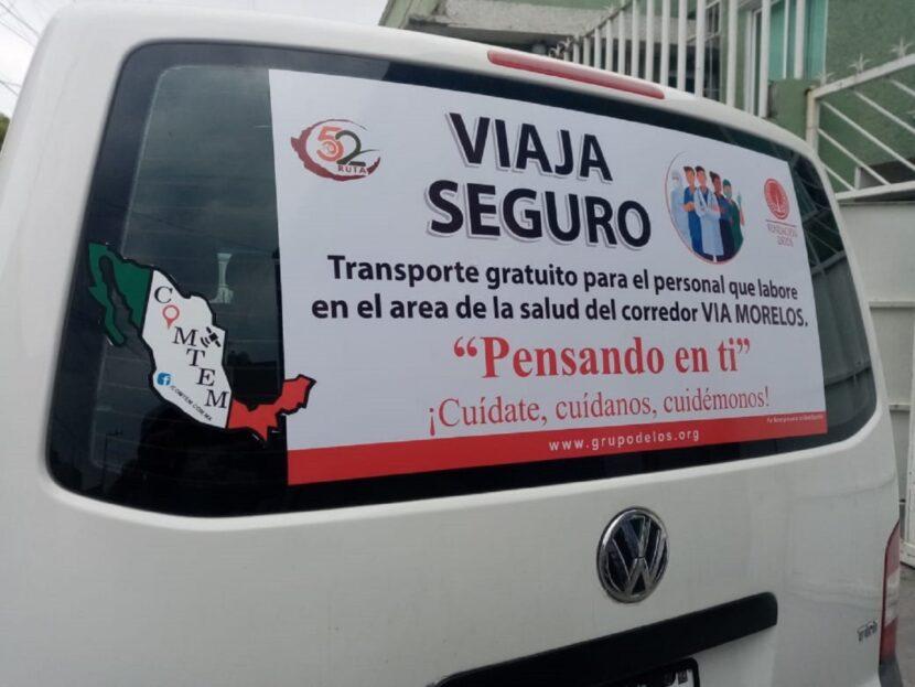 93 EMPRESAS DE TRANSPORTE PÚBLICO DAN SERVICIO GRATUITO A PERSONAL MÉDICO DEL EDOMÉX