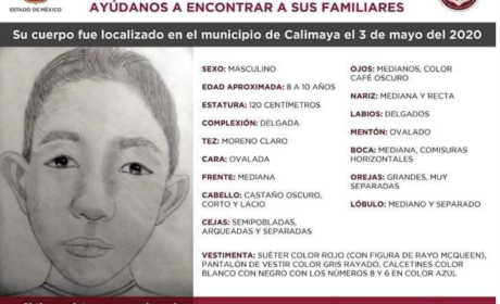 BUSCAN A FAMILIA DE MENOR HALLADO MUERTO EN CALIMAYA; NADIE HA RECLAMADO EL CUERPO