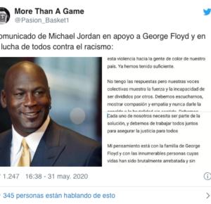 MICHAEL JORDAN PUBLICA EMOTIVO MENSAJE POR LA MUERTE DE GEORGE FLOYD