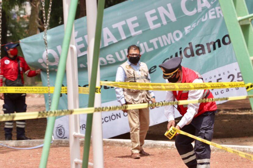 PROTECCIÓN CIVIL CONTINÚA CON  EL CIERRE DE PARQUES DE TOLUCA