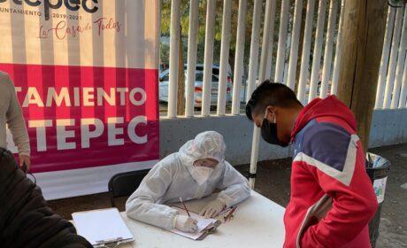 SOLIDARIDAD DE SERVIDORES PÚBLICOS DE METEPEC CON FAMILIARES DE PACIENTES