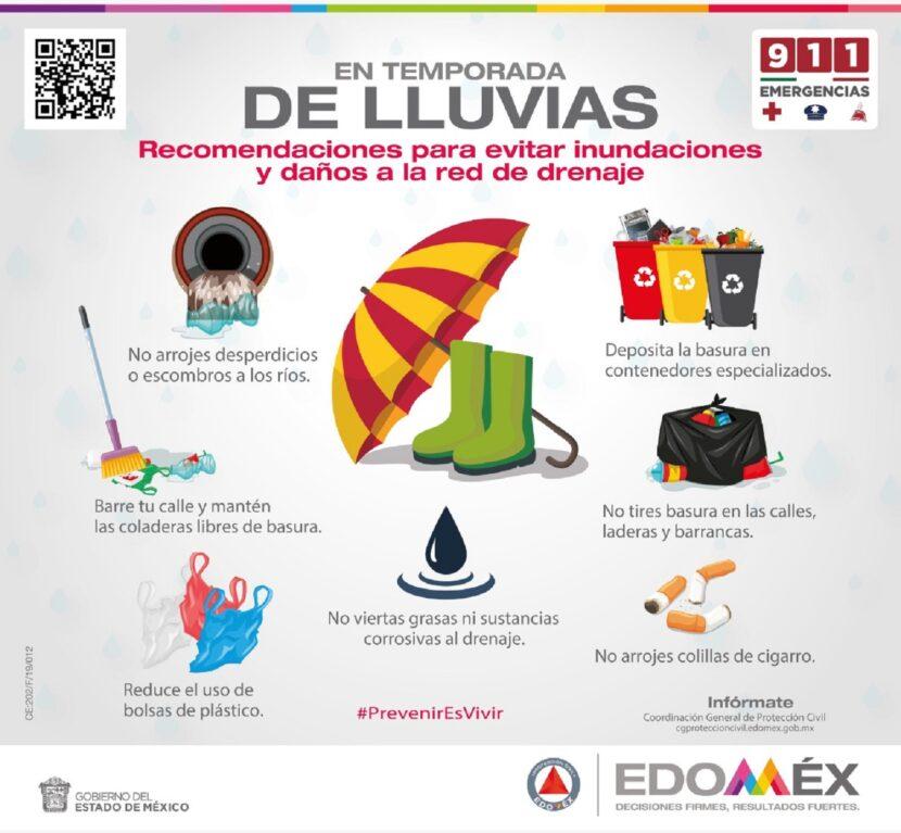 EMITE PROTECCIÓN CIVIL RECOMENDACIONES POR INICIO DE TEMPORADA DE LLUVIAS Y CICLONES