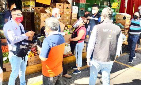 VIGILA COPRISEM MEDIDAS SANITARIAS EN CENTRAL DE ABASTOS DE ECATEPEC