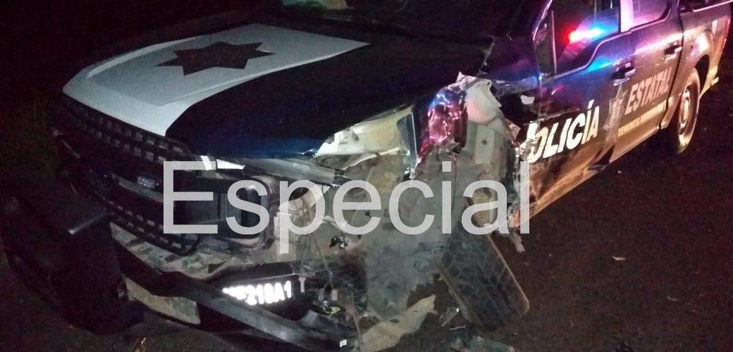 MENOR EN ESTADO DE EBRIEDAD CHOCA CONTRA PATRULLA EN TEXCALTITLÁN