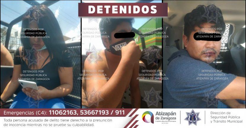 POLICÍA DE ATIZAPÁN DETIENE A TRES SUJETOS POR OCASIONAR DISTURBIOS EN TIENDA DE AUTOSERVICIO