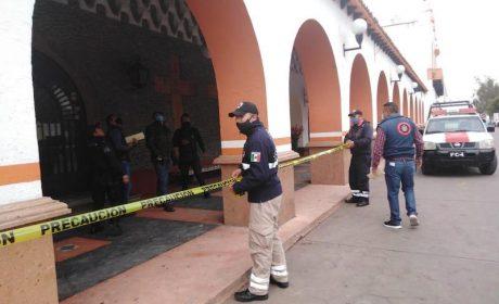 POR EL SISMO, SUFRE DAÑOS EL PALACIO MUNICIPAL DE ALMOLOYA DE JUÁREZ; SE MANTENDRÁ CERRADO