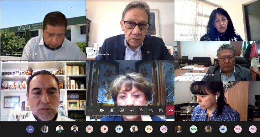 ALFREDO BARRERA INSTALÓ COMISIÓN PARA EL REGRESO DE ACTIVIDADES PRESENCIALES EN LA UAEM