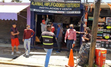 EXHORTÓ TOLUCA A MANTENER CORTINAS ABAJO A COMERCIOS NO ESENCIALES