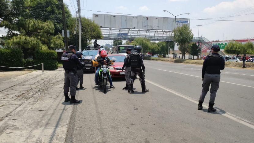 AUTORIDADES DE TOLUCA REMITEN AL CORRALÓN A MÁS DE 100 MOTOCICLETAS