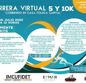 INCUFIDET INVITA A PARTICIPAR EN CARRERA VIRTUAL DE 5 Y 10 KM