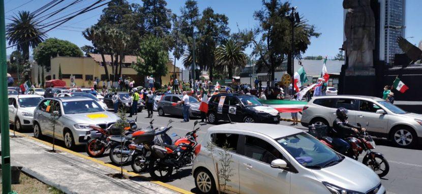 REALIZAN SEGUNDA CARAVANA DE PROTESTA EN CONTRA DE AMLO EN TOLUCA