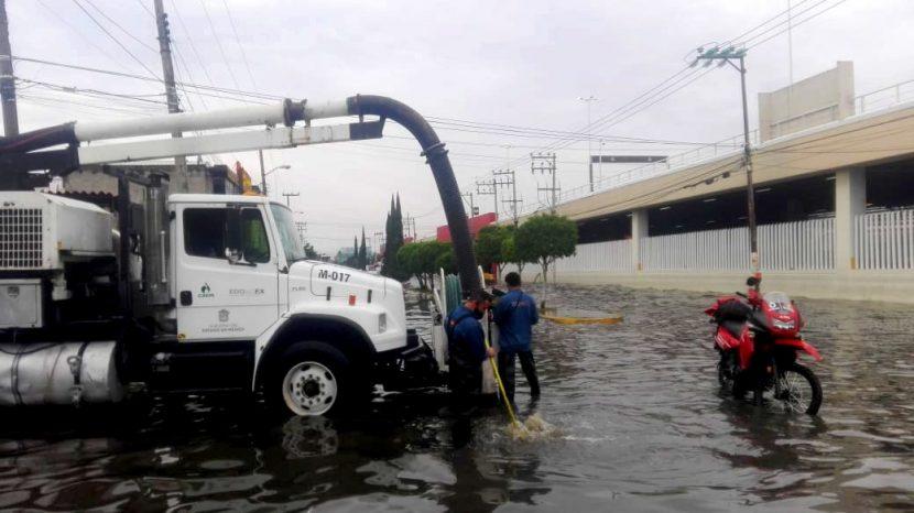 ATIENDE CAEM AFECTACIONES POR LLUVIAS EN EL VALLE DE MÉXICO