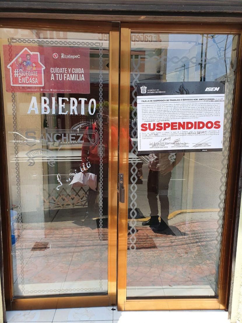 SUSPENDE COPRISEM 11 FUNERARIAS EN EL ESTADO DE MÉXICO