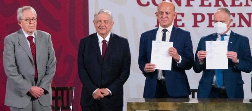 AMLO FIRMA ACUERDO CON ONU Y OPS  PARA COMPRA DE MEDICINAS