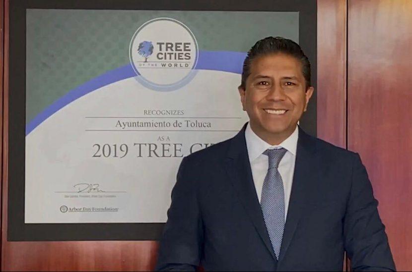 RECIBE TOLUCA RECONOCIMIENTO INTERNACIONAL «2019 TREE CITY»