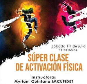 INVITA IMCUFIDET A SÚPER CLASE DE ACTIVACIÓN FÍSICA EN LÍNEA