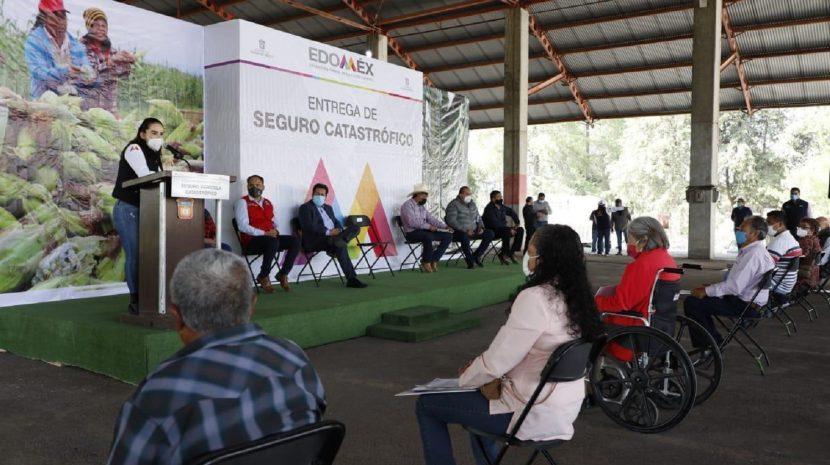 ENTREGAN 31.6 MDP DE SEGURO CATASTRÓFICO A PRODUCTORES AGRÍCOLAS DE LA ENTIDAD