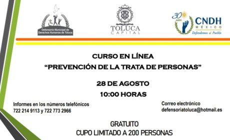 SUMAN ESFUERZOS PARA PREVENIR TRATA DE PERSONAS EN TOLUCA