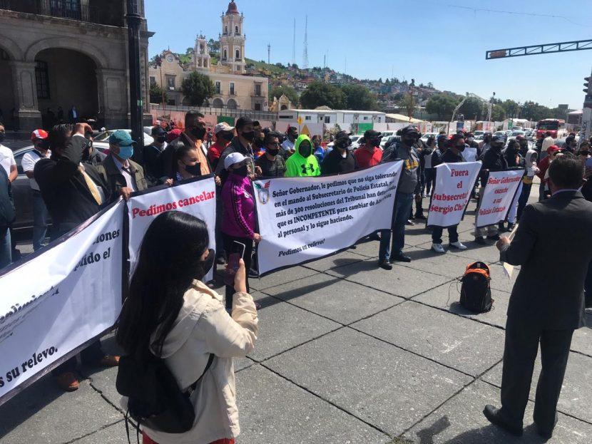 PIDEN POLICÍAS DE LA SSEM PAREN LOS CAMBIOS DE ADSCRIPCIÓN
