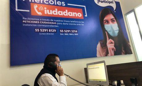 PRIMER MIÉRCOLES CIUDADANO TELEFÓNICO EN HUIXQUILUCAN