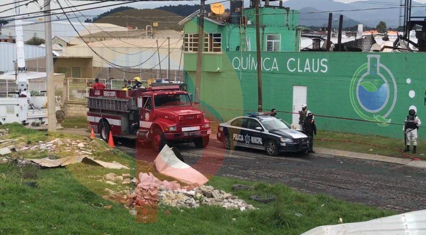 EXPLOSIÓN EN EMPRESA DE QUÍMICOS DEJA COMO SALDO 2 HOMBRES MUERTOS