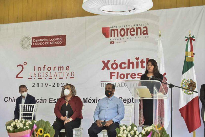 REFORMAS DE MORENA CONSOLIDARON TRANSFORMACIÓN EN EDOMÉX: XÓCHITL FLORES