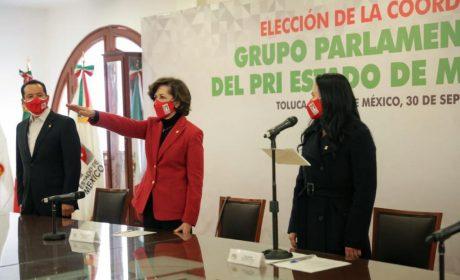 MARCELA VELASCO GONZÁLEZ, NUEVA COORDINADORA DE LA BANCADA FEDERAL MEXIQUENSE DEL PRI