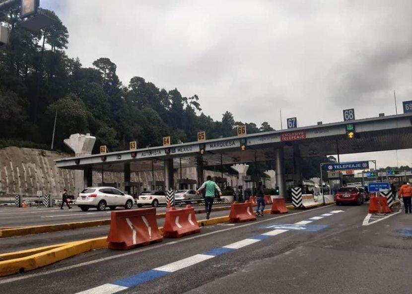 NORMALISTAS TOMAN CASETA Y DAN PASO LIBRE EN LA MÉXICO-TOLUCA
