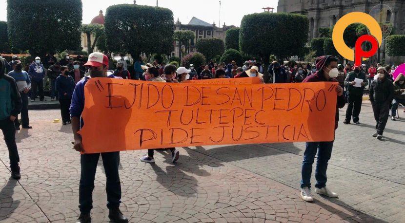 EJIDATARIOS DE LERMA EXIGEN JUSTICIA POR SUS TIERRAS