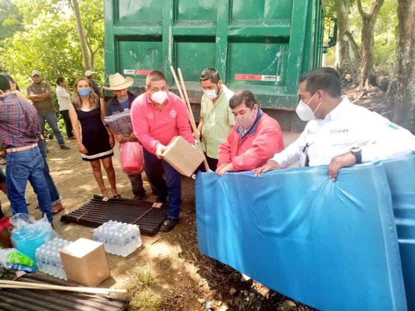 PROTECCIÓN CIVIL ENTREGA EN TEJUPILCO, APOYOS A FAMILIAS AFECTADAS POR LLUVIAS