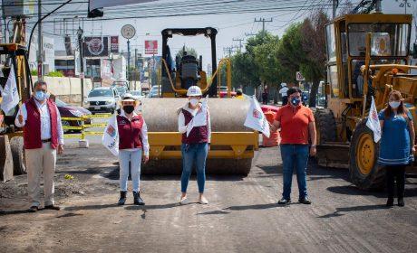 ES VITAL LA EJECUCIÓN DE OBRAS PARA MEJORAR EL DESARROLLO DE METEPEC: GABY GAMBOA